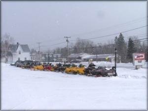 Snowmobiling Jackman Maine Bishop's Motel